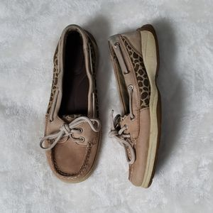 Animal print Sperry boat shoes